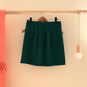 Emmelee Green Pleated Skirt - Size Medium